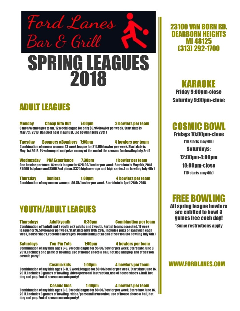 Spring Leagues 2018